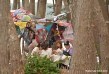 ぐるぐるめぐる、傘の家 in 気仙沼