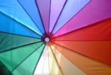 MoMAの虹の傘